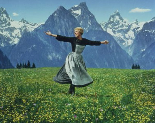 "Still frame from the original ""Sound of Music"""
