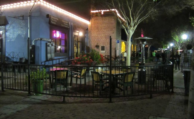 A similar patio in Fullerton costs several hundred dollars a month.